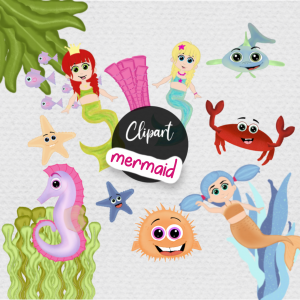 Mermaid Clipart Bundle Sandra Bredtmann